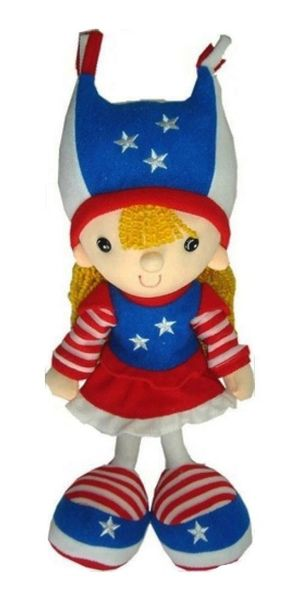 "USA GIRL KICKIN' PLUSH DOLL .. SIZE : 15"" X 6"" INCHES .. NEW"
