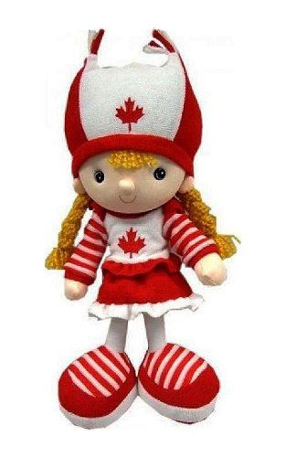 "CANADA GIRL KICKIN' PLUSH DOLL .. SIZE : 15"" X 6"" INCHES .. NEW"