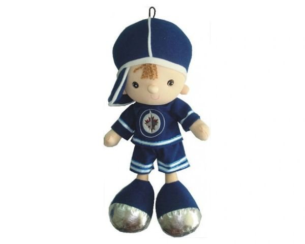 "WINNIPEG JETS 13"" INCHES NHL BOY KICKIN' KIDS TOY DOLL .. NEW"