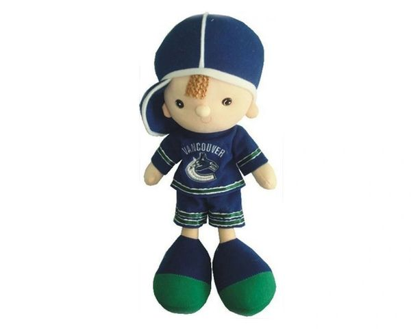"VANCOUVER CANUCKS 13"" INCHES NHL BOY KICKIN' KIDS TOY DOLL .. NEW"