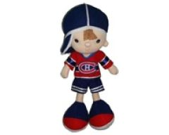 """MONTREAL CANADIENS 13"""" INCHES NHL BOY KICKIN' KIDS TOY DOLL .. NEW"""