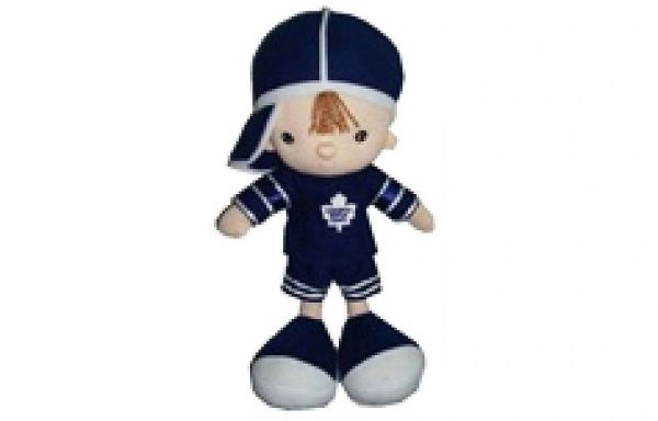 "TORONTO MAPLE LEAFS 13"" INCHES NHL BOY KICKIN' KIDS TOY DOLL .. NEW"