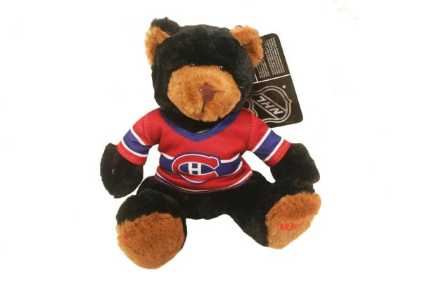 "MONTREAL CANADIENS BLACK 10"" INCHES NHL RED JERSEY PLUSH BEAR TOY .. NEW"