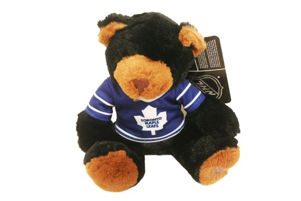 "TORONTO MAPLE LEAFS BLUE 10"" INCHES NHL RED JERSEY PLUSH BEAR TOY .. NEW"