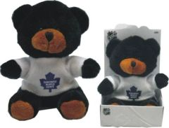 "TORONTO MAPLE LEAFS NHL LOGO 4 1/4"" INCHES PLUSH BEAR IN GIFT BOX .. NEW"