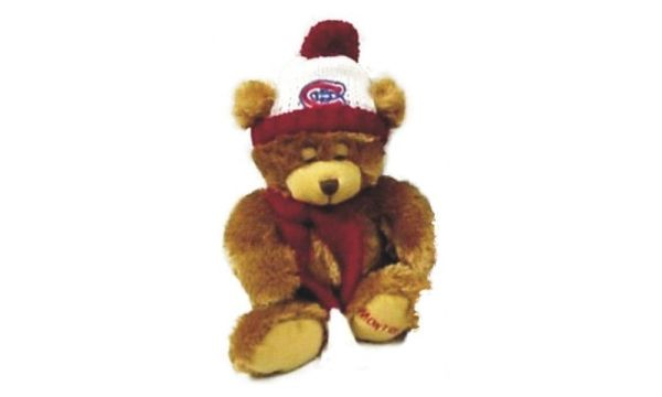 "MONTREAL CANADIENS 11"" INCHES NHL PLUSH BEAR WITH SCARF & HAT TOY .. NEW"
