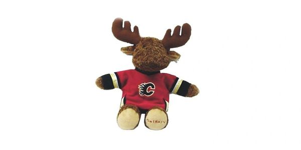 "CALGARY FLAMES 11"" INCHES NHL BLUE JERSEY PLUSH MOOSE TOY .. NEW"