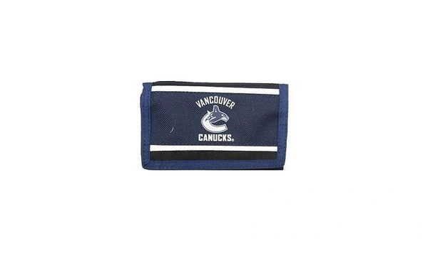 VANCOUVER CANUCKS NHL HOCKEY LOGO TRI - FOLD WALLET .. NEW
