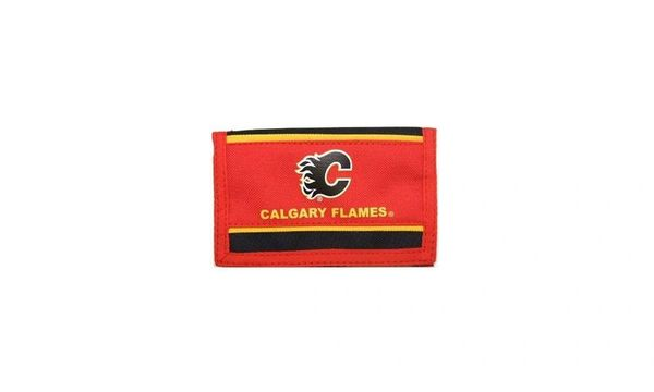 CALGARY FLAMES NHL HOCKEY LOGO TRI - FOLD WALLET .. NEW