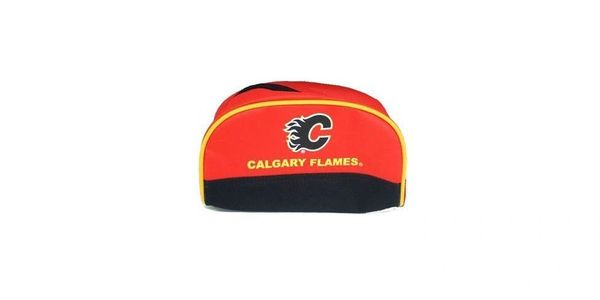 CALGARY FLAMES NHL HOCKEY LOGO PENCIL CASE .. NEW