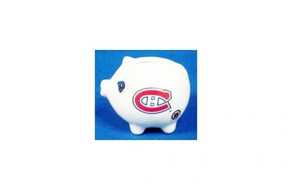 MONTREAL CANADIENS NHL HOCKEY LOGO CERAMIC SMALL PIGGY BANK.. NEW