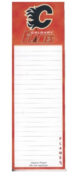 CALGARY FLAMES NHL HOCKEY LOGO MAGNETIC NOTEPAD - 50 SHEETS .. NEW