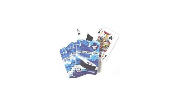 TORONTO MAPLE LEAFS NHL HOCKEY LOGO PLAYING CARDS IN TIN BOX .. NEW