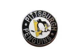 "PITTSBURGH PENGUINS NHL HOCKEY LOGO BELT BUCKLE .. SIZE : 3"" X 3"" INCHES CIRCLE SHAPE .. NEW"