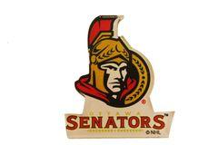 "OTTAWA SENATORS NHL HOCKEY LOGO ACRYLIC MAGNET .. SIZE : 2 1/2"" X 2 1/4"" INCHES .. NEW"