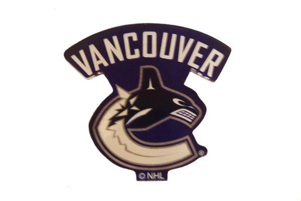 "VANCOUVER CANUCKS NHL HOCKEY LOGO ACRYLIC MAGNET .. SIZE : 2 1/2"" X 2 1/4"" INCHES .. NEW"