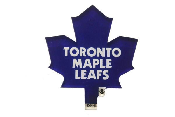 "TORONTO MAPLE LEAFS NHL HOCKEY LOGO ACRYLIC MAGNET .. SIZE : 2 1/2"" X 1 3/4"" INCHES .. NEW"