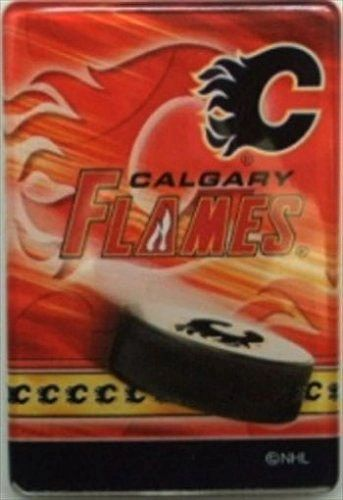 "CALGARY FLAMES NHL HOCKEY LOGO ACRYLIC MAGNET .. SIZE : 2"" X 3"" INCHES .. NEW"