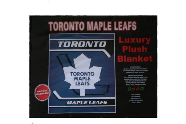 "TORONTO MAPLE LEAFS NHL HOCKEY LOGO LUXURY PLUSH BLANKET .. SIZE : 76"" X 92"" INCHES .. LICENSED .. NEW"