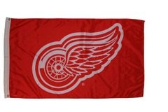 DETROIT RED WINGS 3' X 5' FEET NHL HOCKEY FLAG BANNER .. NEW AND IN A PACKAGE