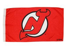 NEW JERSEY DEVILS 3' X 5' FEET NHL HOCKEY LOGO FLAG BANNER .. NEW AND IN A PACKAGE