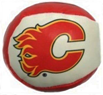 CALGARY FLAMES HACKEY SACK NHL HOCKEY LOGO NAUGHTY BALL.. NEW