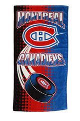 "MONTREAL CANADIENS NHL HOCKEY LOGO BEACH TOWEL .. SIZE : 56"" X 28"" INCHES .. .. .. NEW"