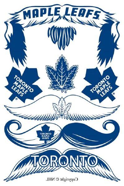 STACHETATS TORONTO MAPLE LEAFS NHL HOCKEY LOGO TEMPORARY MUSTACHE TATTOOS .. NEW