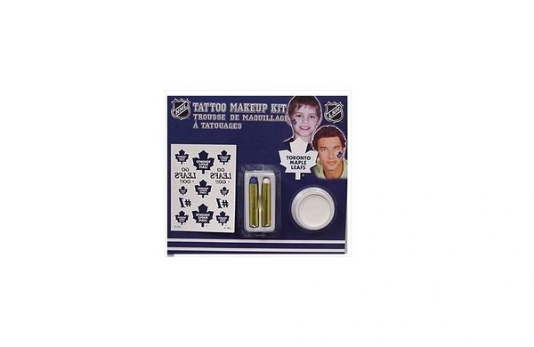 TORONTO MAPLE LEAFS NHL HOCKEY LOGO TATTOO MAKEUP KIT .. NEW
