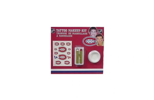 MONTREAL CANADIENS NHL HOCKEY LOGO TATTOO MAKEUP KIT .. NEW