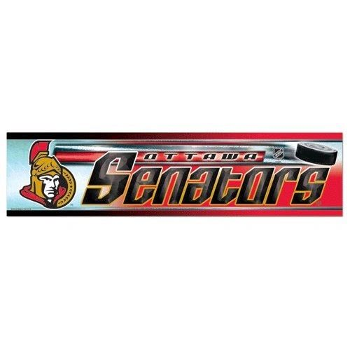 "OTTAWA SENATORS NHL HOCKEY LOGO BUMPER STICKER BY WINCRAFT .. SIZE: 12"" X 3"" INCHES .. NEW"