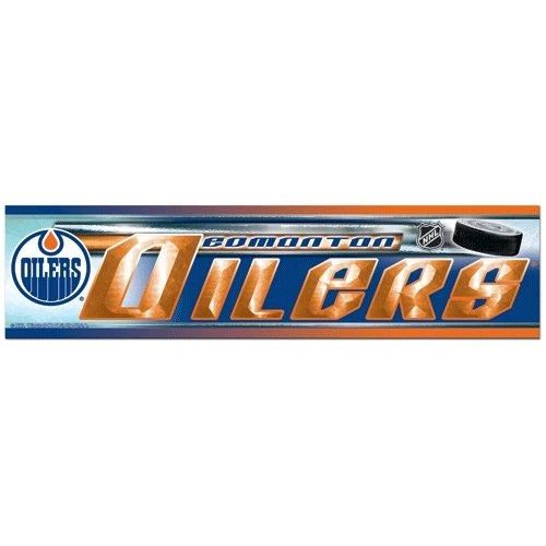 "EDMONTON OILERS NHL HOCKEY LOGO BUMPER STICKER BY WINCRAFT .. SIZE: 12"" X 3"" INCHES .. NEW"
