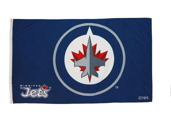WINNIPEG JETS 3' X 5' FEET NHL HOCKEY FLAG BANNER .. NEW AND IN A PACKAGE