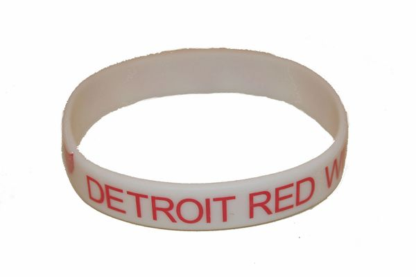 DETROIT RED WINGS NHL HOCKEY LOGO SILICONE BRACELET .. NEW
