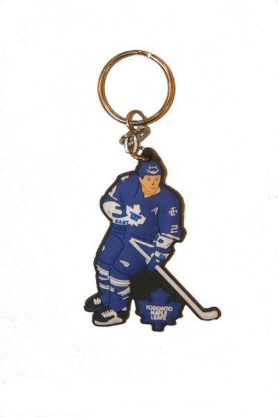 "TORONTO MAPLE LEAFS NHL HOCKEY LOGO FIGURE KEYCHAIN .. SIZE: 3"" X 1 1/2"" INCHES .. NEW"