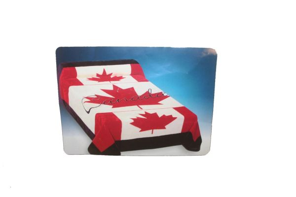"""CANADA LUXURY ROYAL PLUSH BLANKET BEDSPREAD .. QUEEN SIZE : 79"""" X 94"""" INCHES .. NEW"""