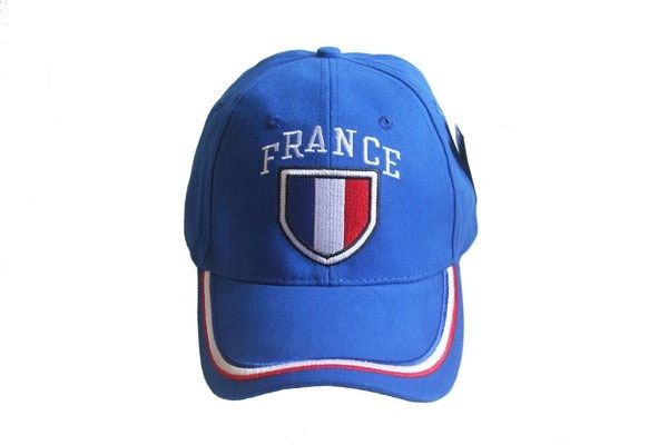 FRANCE BLUE COUNTRY FLAG EMBOSSED HAT CAP .. NEW