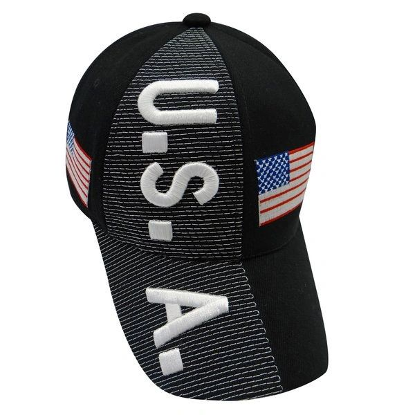 USA BLACK COUNTRY FLAG EMBOSSED HAT CAP.. NEW