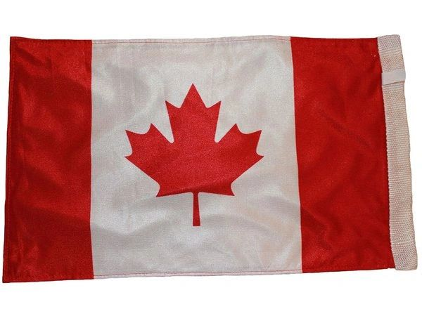 "CANADA COUNTRY HEAVY DUTY CAR FLAG WITH SLEEVE WITHOUT STICK.. SIZE : 12"" X 18"" INCHES.. NEW"