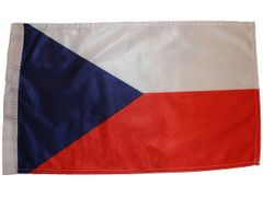 """CZECH REPUBLIC COUNTRY HEAVY DUTY CAR FLAG WITH SLEEVE WITHOUT STICK.. SIZE : 12"""" X 18"""" INCHES.. NEW"""
