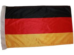 "GERMANY PLAIN COUNTRY HEAVY DUTY CAR FLAG WITH SLEEVE WITHOUT STICK.. SIZE : 12"" X 18"" INCHES.. NEW"