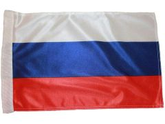 "RUSSIA COUNTRY HEAVY DUTY CAR FLAG WITH SLEEVE WITHOUT STICK.. SIZE : 12"" X 18"" INCHES.. NEW"