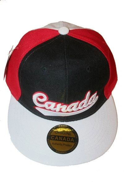CANADA BLACK RED WHITE HIP HOP HAT CAP .. NEW