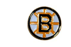 BOSTON BRUINS NHL LOGO METAL LAPEL PIN BADGE .. NEW AND IN A PACKAGE