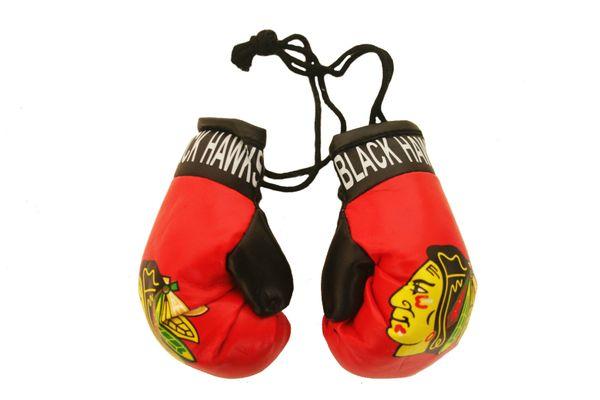 CHICAGO BLACKHAWKS NHL HOCKEY LOGO MINI BOXING GLOVES .. NEW