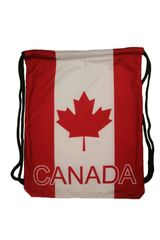 """CANADA COUNTRY FLAG DRAWSTRING KNAPSACK BAG ..SIZE : 14"""" X 18"""" INCHES.. NEW"""