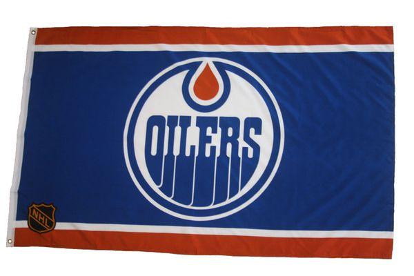 EDMONTON OILERS 3' X 5' FEET NHL HOCKEY LOGO FLAG BANNER