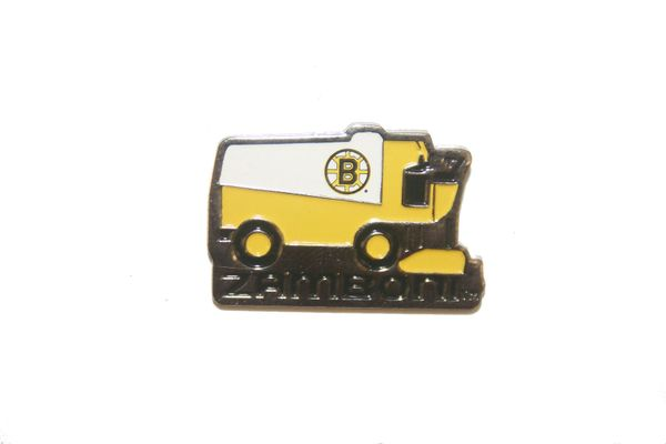 BOSTON BRUINS NHL ZAMBONI METAL LAPEL PIN BADGE .. NEW AND IN A PACKAGE