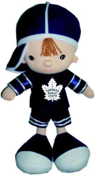 """TORONTO MAPLE LEAFS NHL HOCKEY ( NEW ) LOGO 13"""" INCH BOY KICKIN'S KIDS TOY DOLL"""