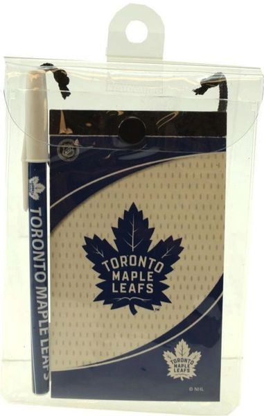 TORONTO MAPLE LEAFS NHL HOCKEY ( NEW ) LOGO FLIP NOTEPAD & PEN